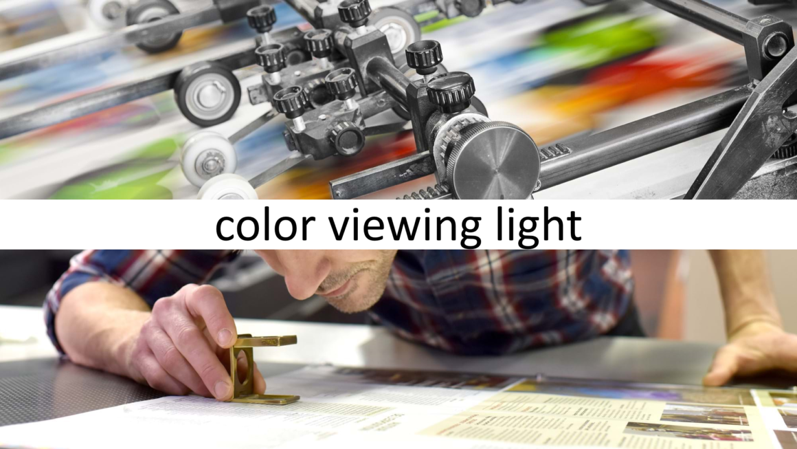 Light for colour evaluation in printing and graphic arts industries
