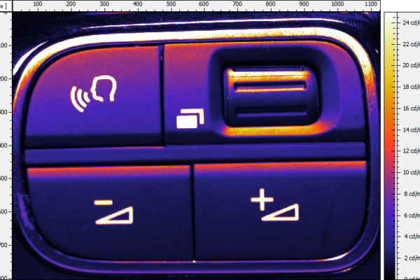 Quality control of the backlit user interface elements, i.e. how to measure buttons, switches, keyboards.
